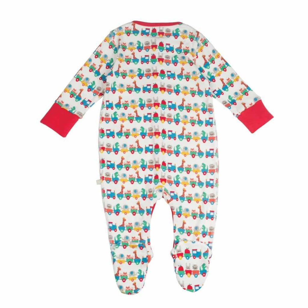 Frugi Lovely Babygrow Alphabet Train
