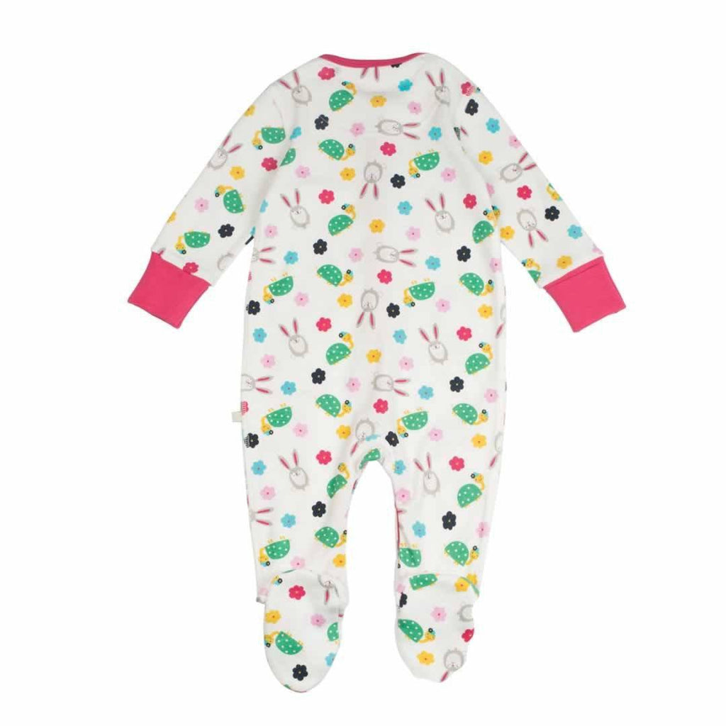 Frugi Lovely Babygrow Hare and Tortoise