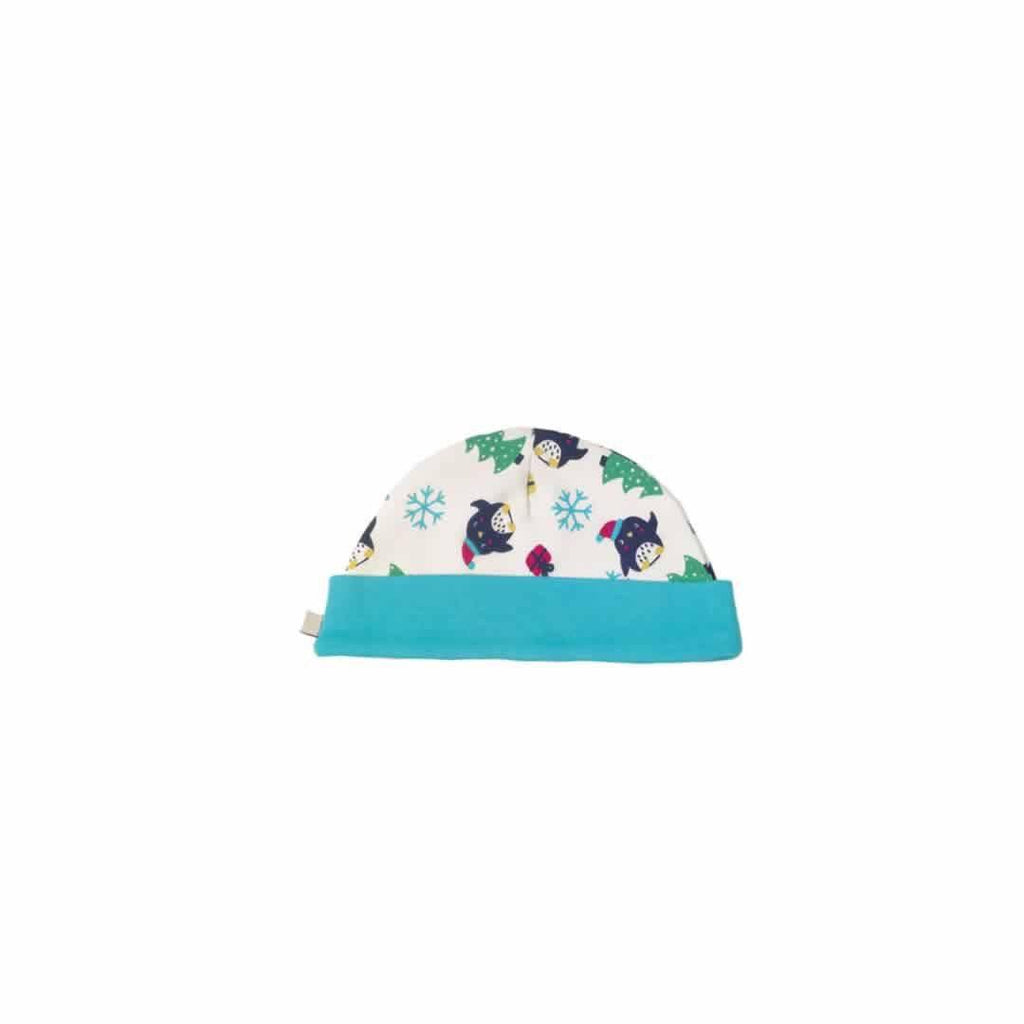 Frugi Lovely Hat in Penguin Party