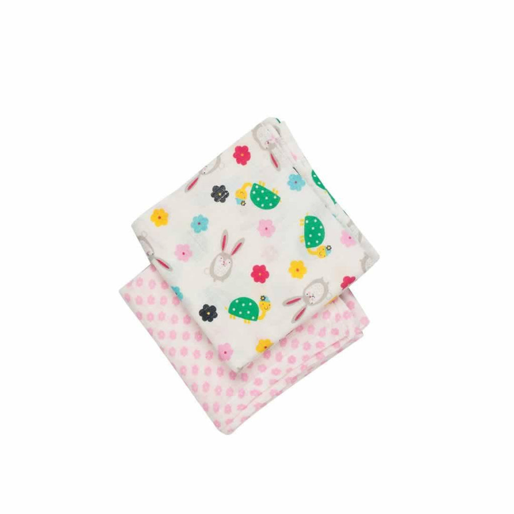 Frugi Lovely Muslins Hare and Tortoise - 2 Pack