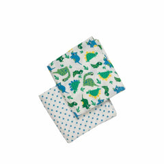 Frugi Lovely Muslins Multi Dinos 2 Pack