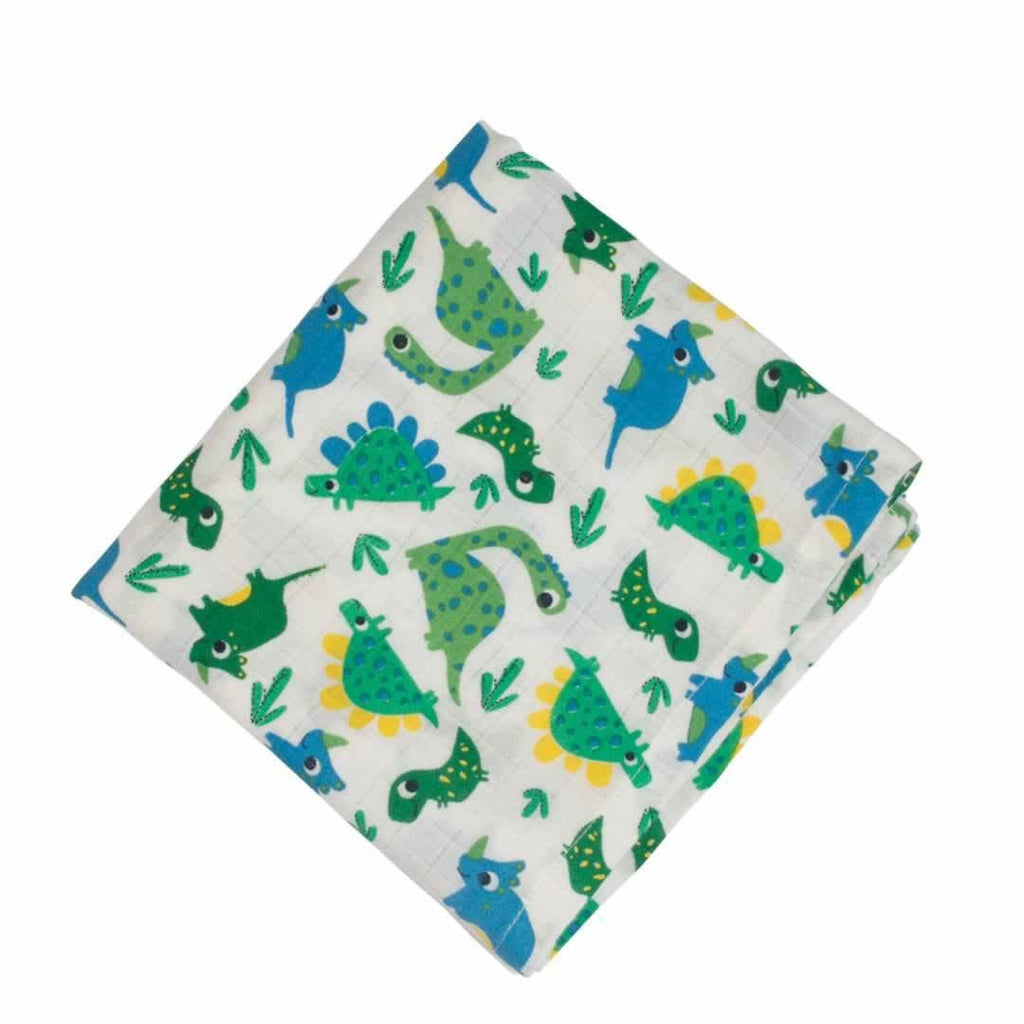 Frugi Lovely Muslins Multi Dinos - 2 Pack