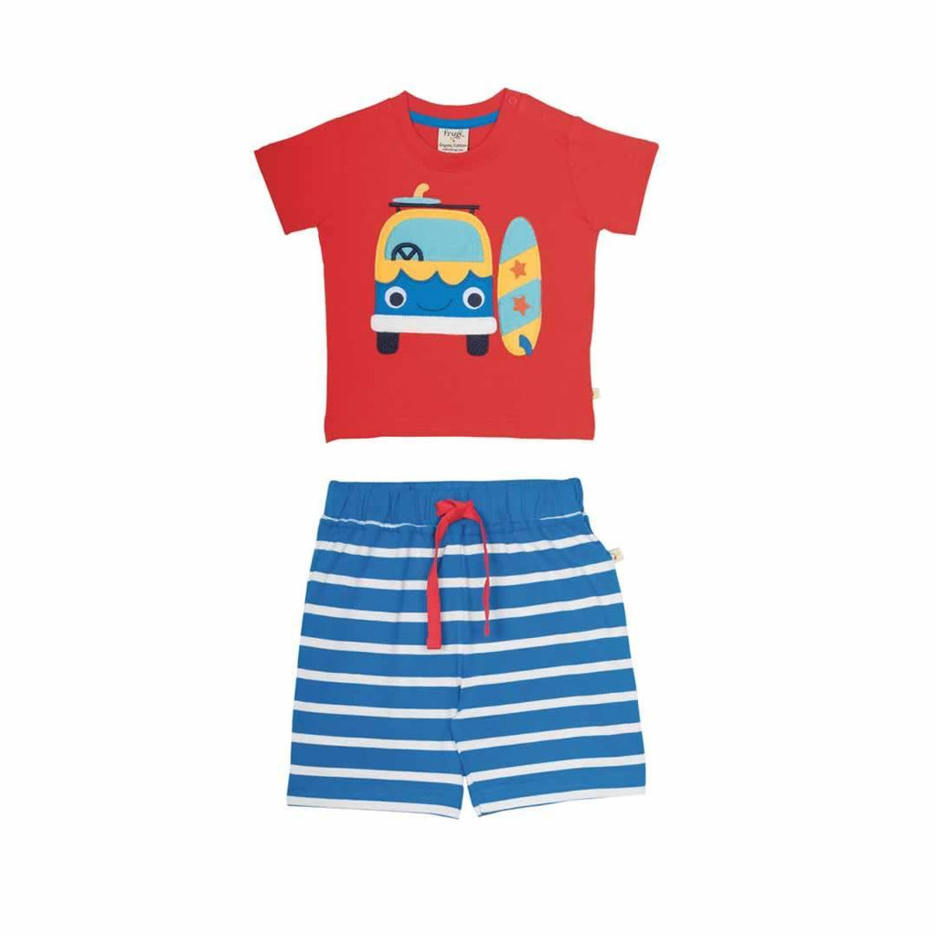 Frugi Porthleven Outfit in Tomato/Camper