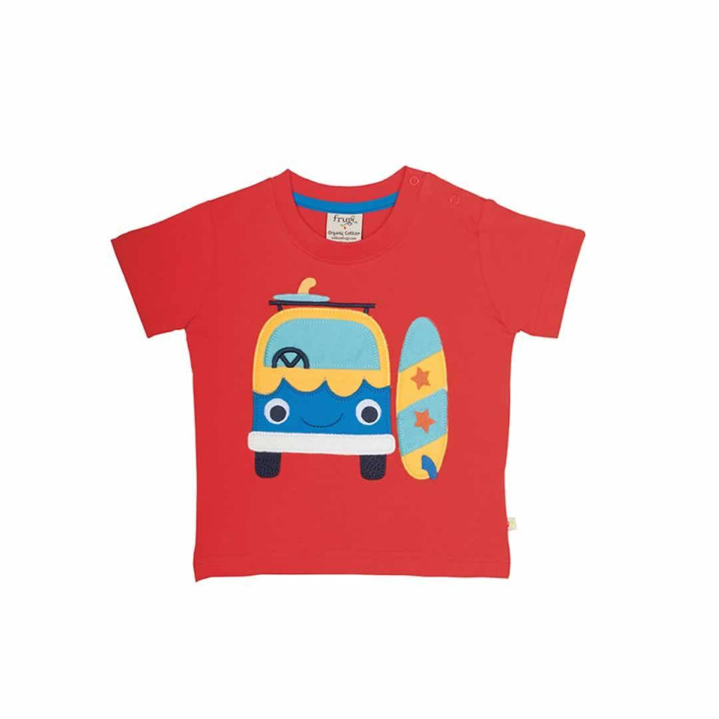 Frugi Porthleven Outfit - Tomato/Camper Top