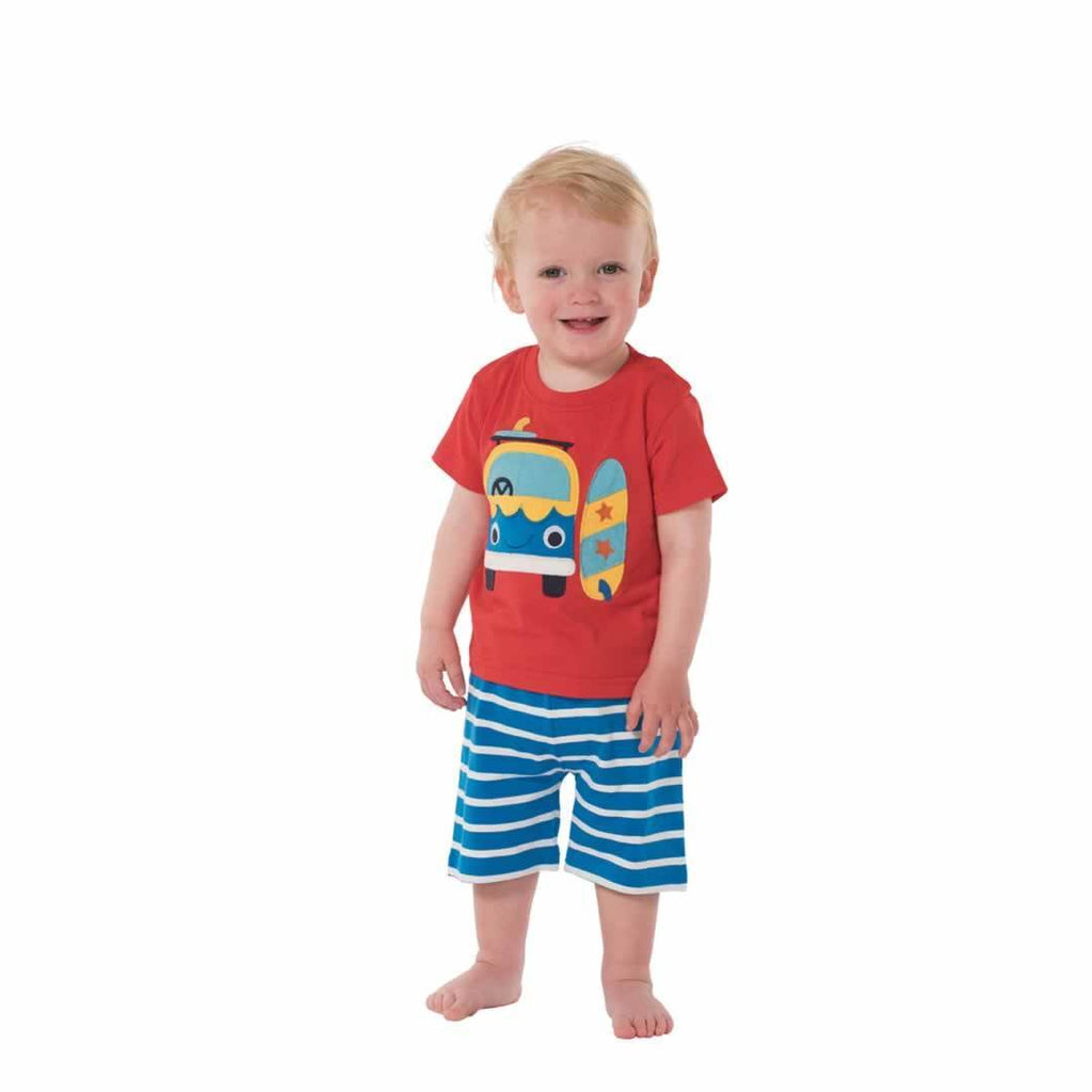 Frugi Porthleven Outfit - Tomato/Camper Lifestyle