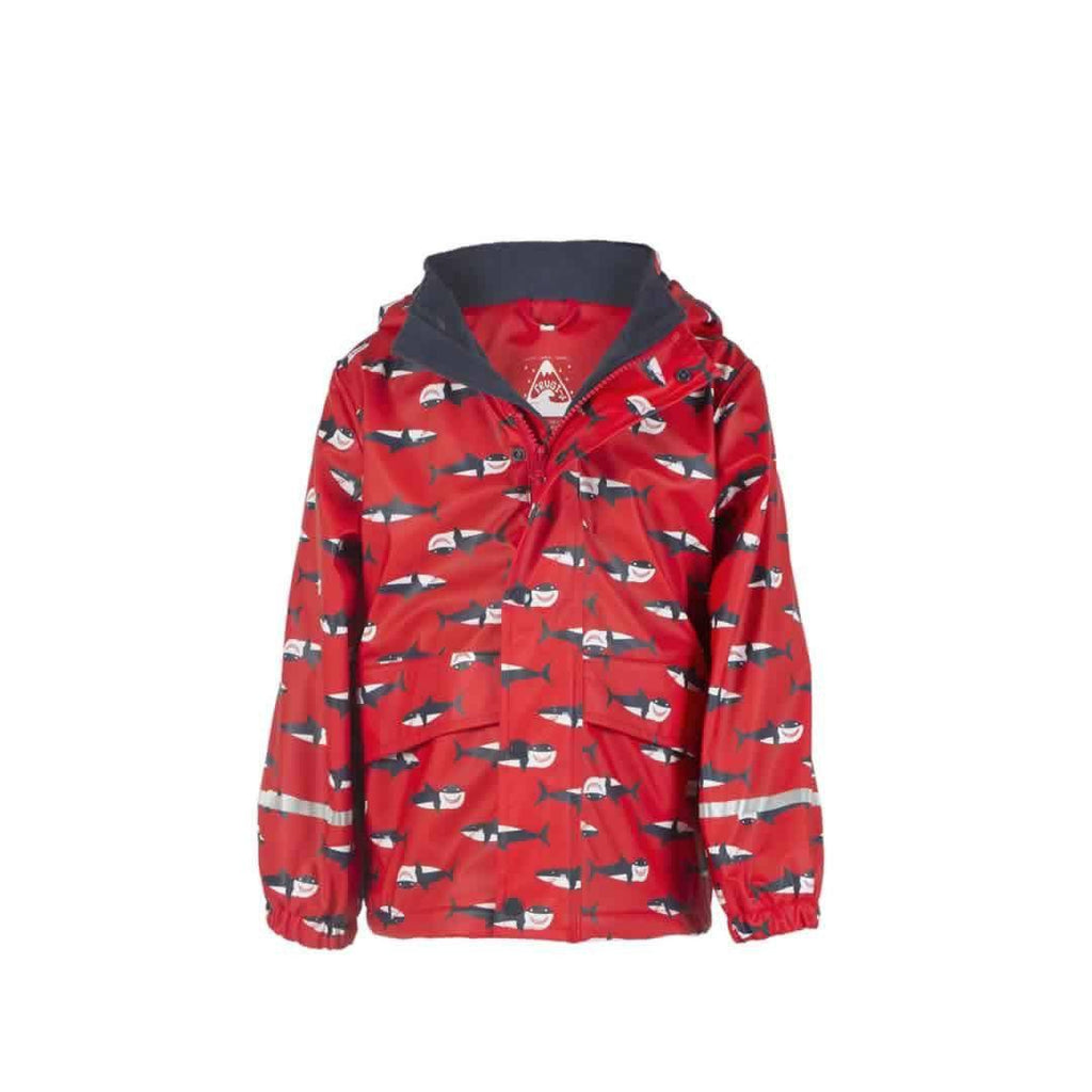 Frugi Puddle Buster Coat in Hungry Sharks