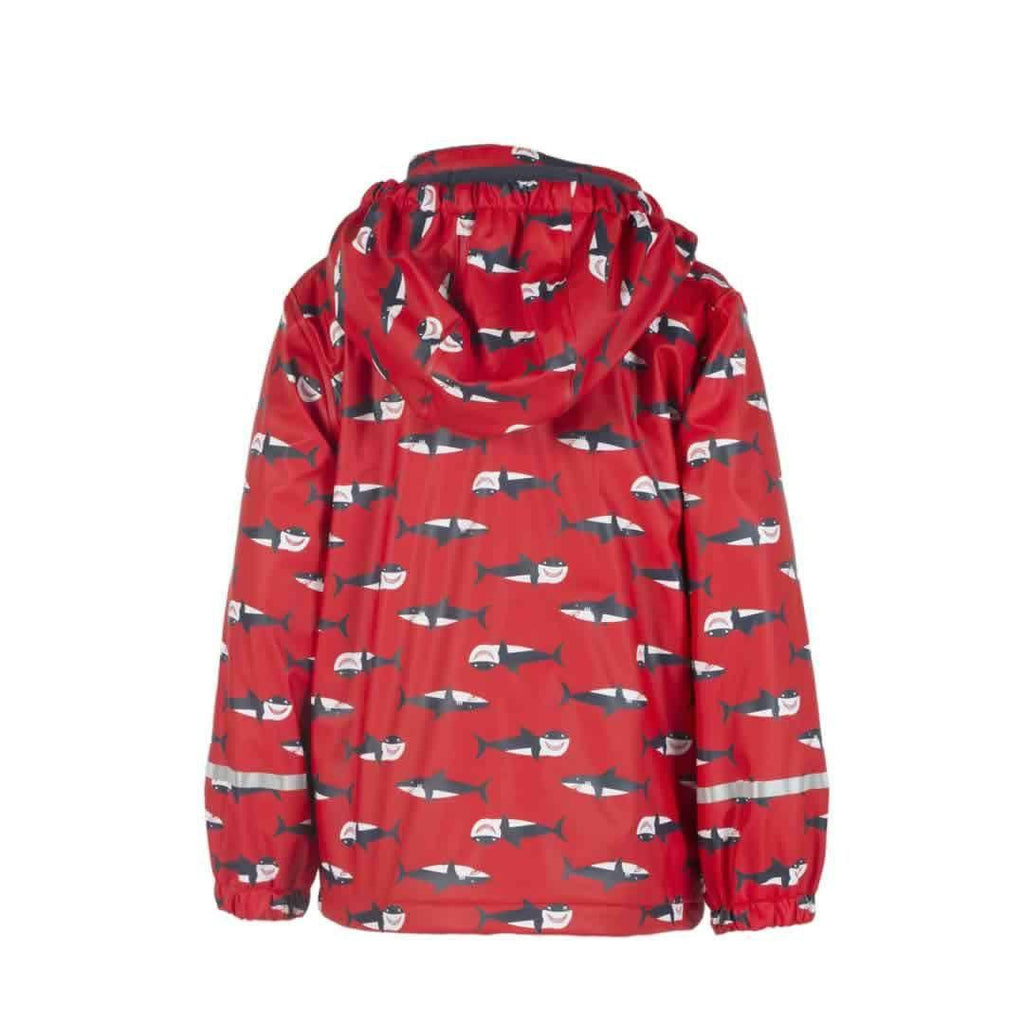 Frugi Puddle Buster Coat Hungry Sharks