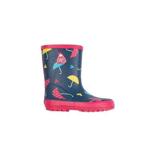 Frugi Puddle Buster Wellington Boots in Spotty Brollies