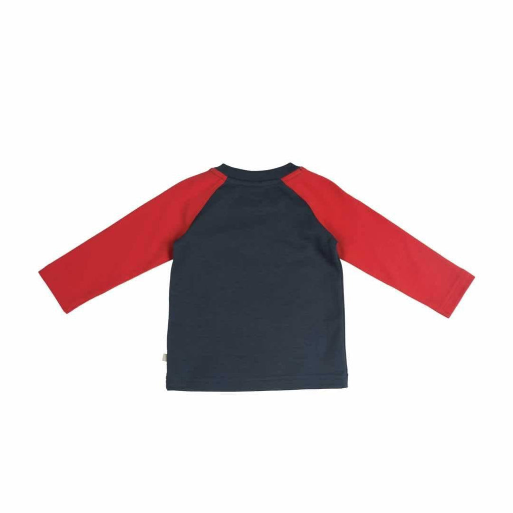 Frugi Raglan Top Navy/Elephant