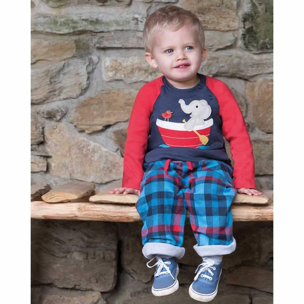 Frugi Raglan Top - Navy/Elephant Lifestyle