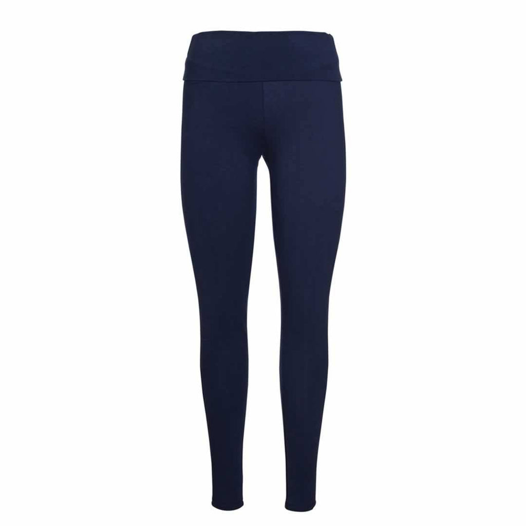 Frugi Roll Top Yoga Pants in Navy Iris