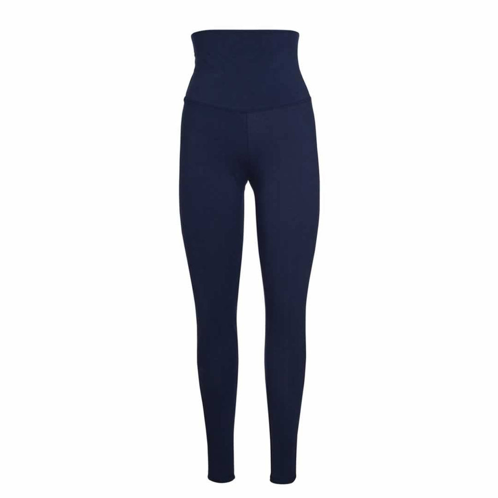 Frugi Roll Top Yoga Pants Navy Iris
