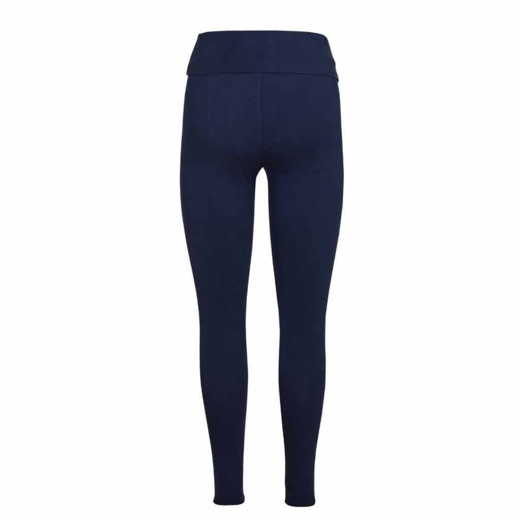 Frugi Roll Top Yoga Pants Navy Iris Back