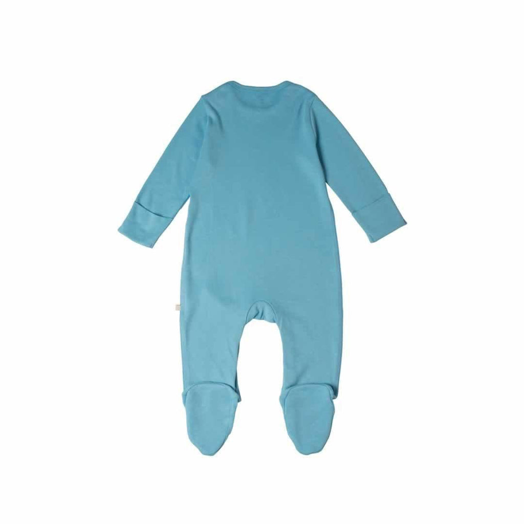 Frugi Scrumptious Babygrow 2 Pack - Up and Away Black Back