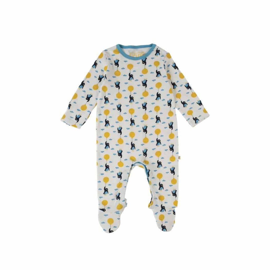 Frugi Scrumptious Babygrow 2 Pack - Up and Away Front