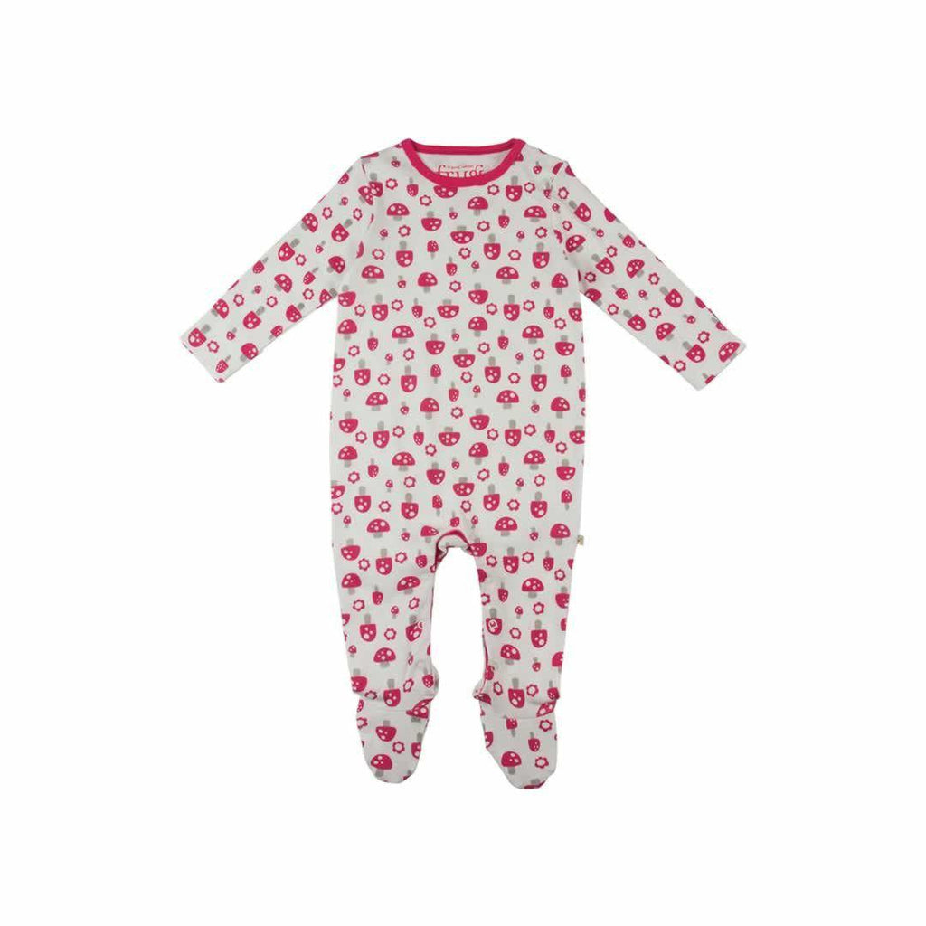 Frugi Scrumptious Babygrow 2 Pack - Woodland Mushrooms Front