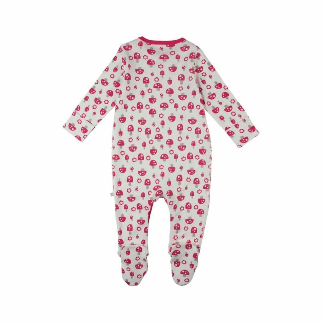Frugi Scrumptious Babygrow 2 Pack - Woodland Mushrooms Back