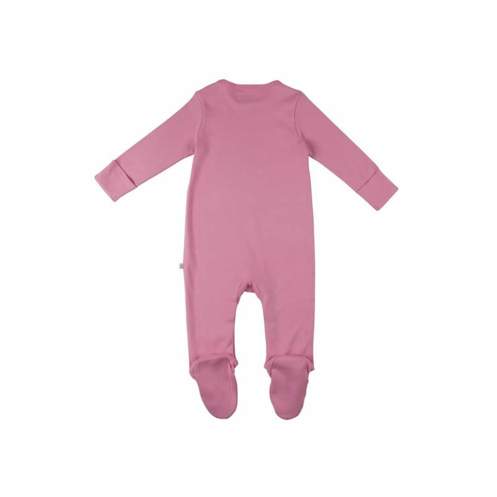 Frugi Scrumptious Babygrow 2 Pack - Woodland Mushrooms Pink Back