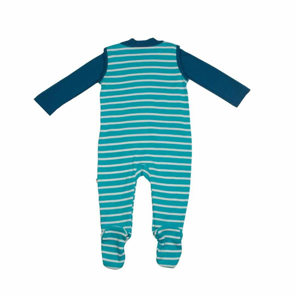 Frugi Snuggle Baby Gift Set - Cornish Sea Breton/Leopard Back