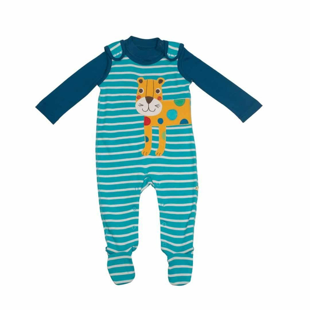 Frugi Snuggle Baby Gift Set - Cornish Sea Breton/Leopard Front
