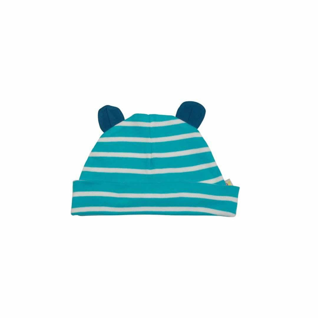 Frugi Snuggle Baby Gift Set - Cornish Sea Breton/Leopard Hat