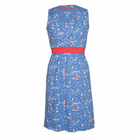 Frugi Summer Tie Dress Lighthouses