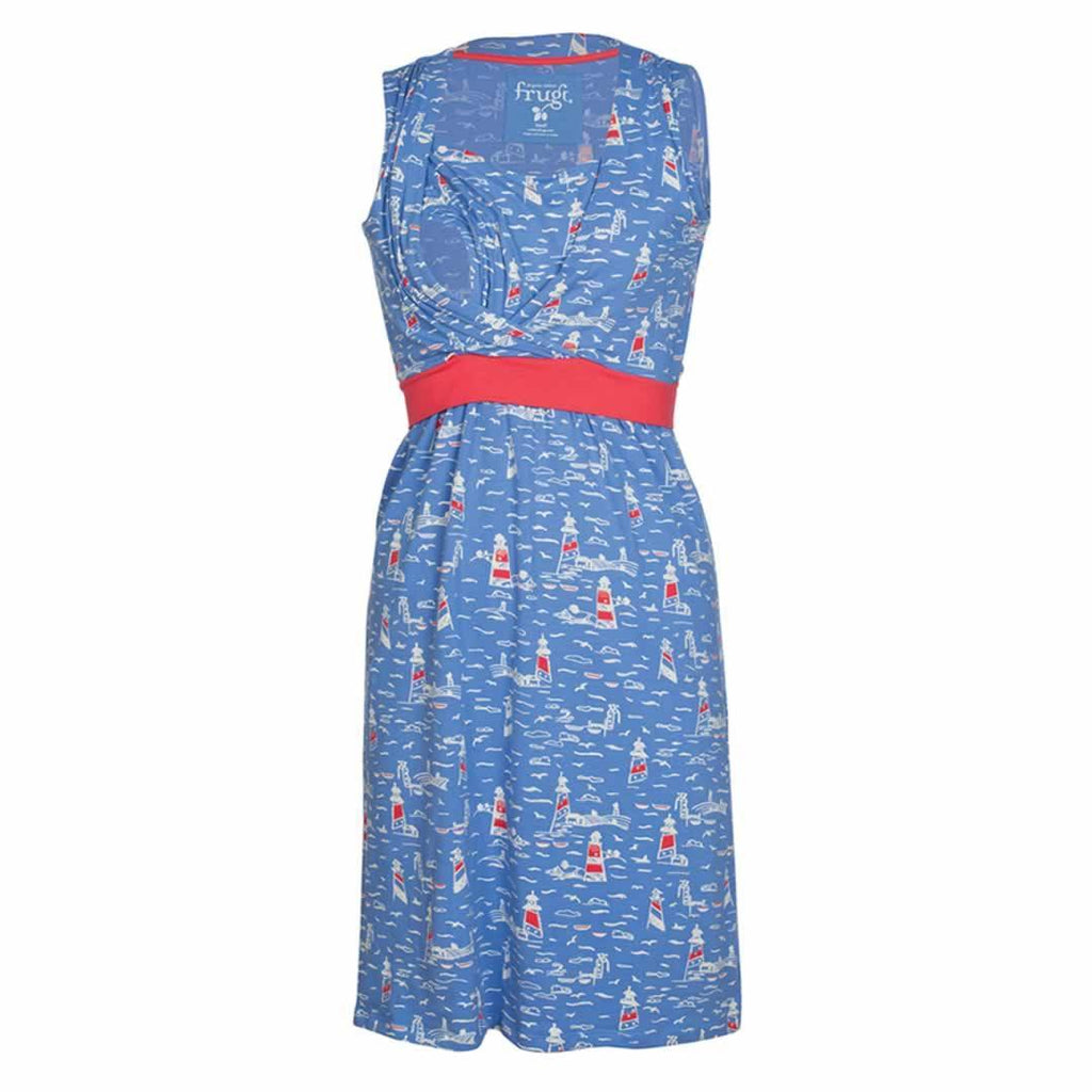 Frugi Summer Tie Dress in Lighthouses
