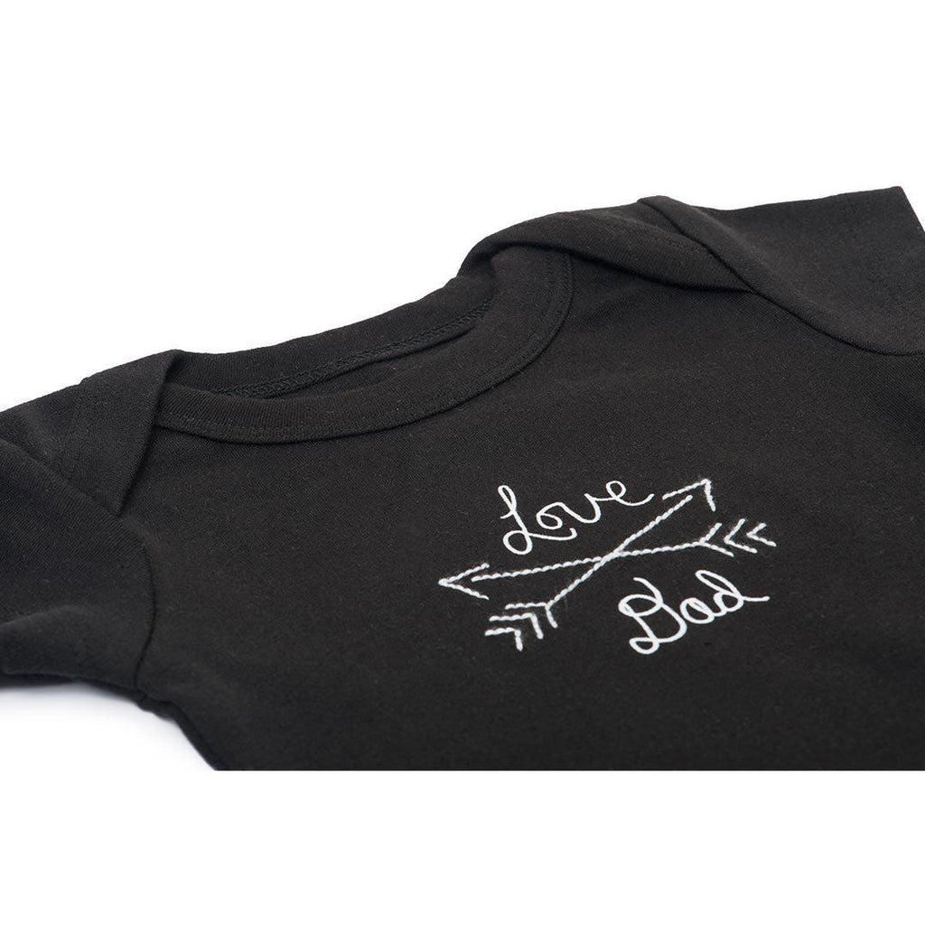 Finn + Emma Lap Shoulder Bodysuit - Black-Bodysuits- Natural Baby Shower