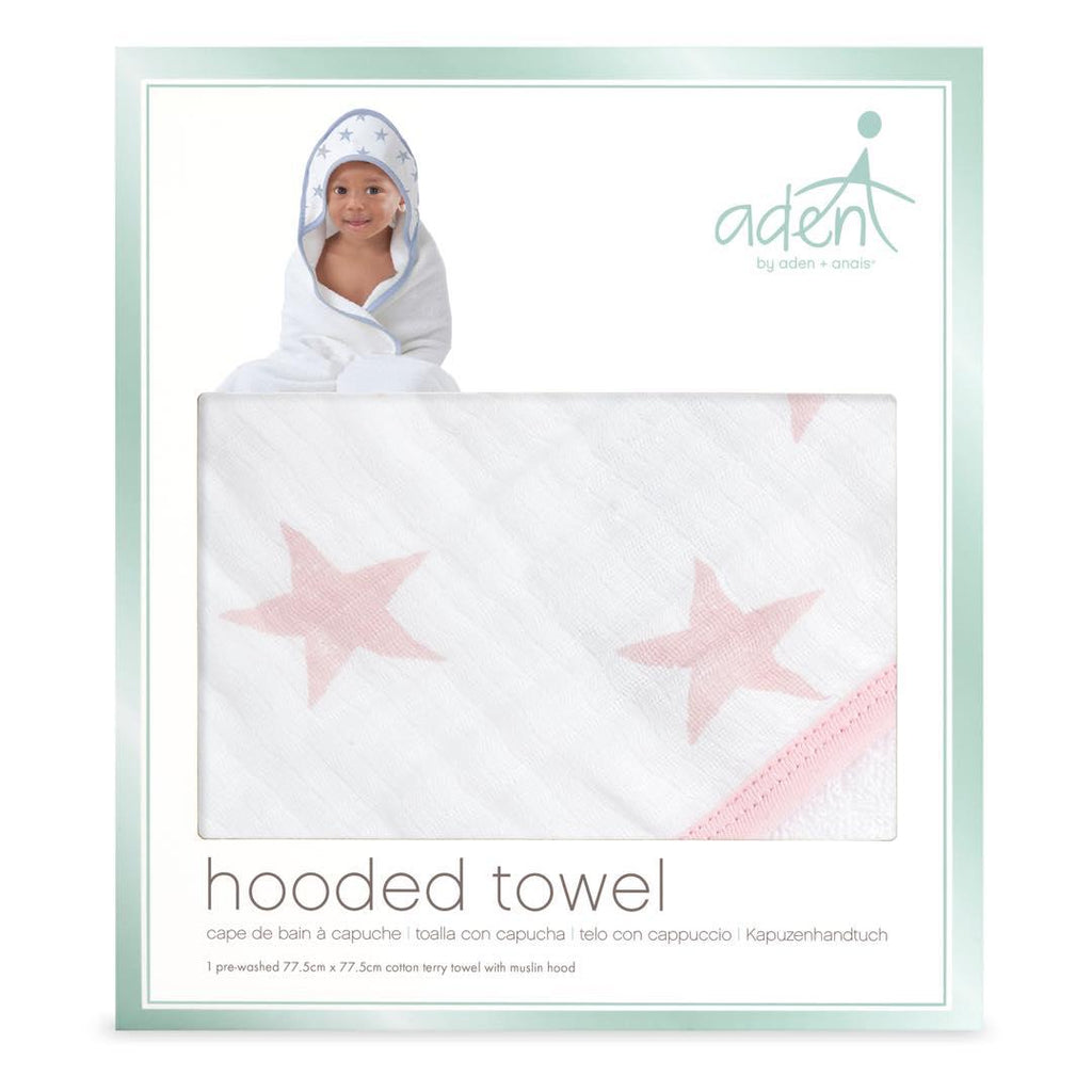 aden by aden + anais Hooded Baby Towel - Doll-Towels & Robes-Doll-One Size- Natural Baby Shower