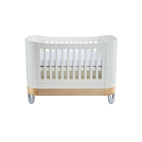 Gaia Baby Serena Complete Sleep+/Mini Baby Bed - White/Natural-Cot Beds- Natural Baby Shower
