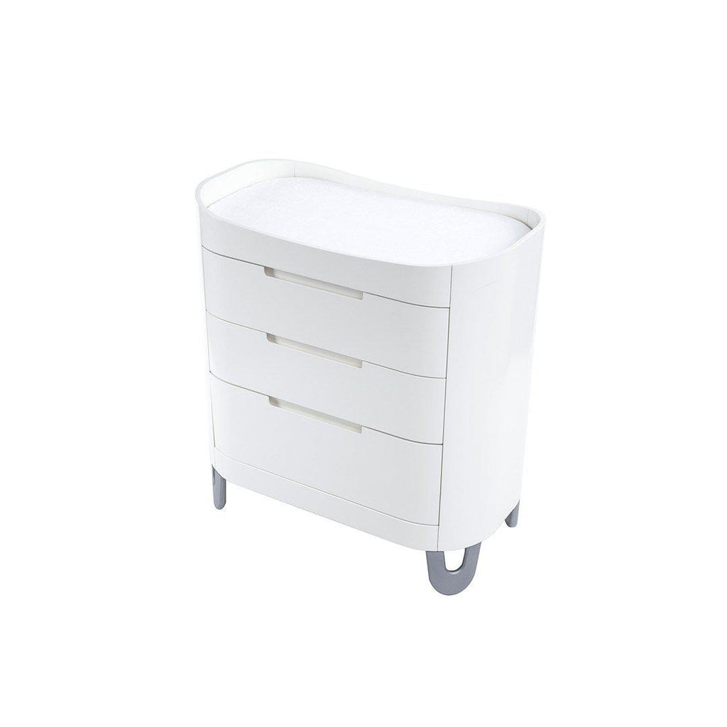 Gaia Baby Serena Dresser/Changer - White-Dressers & Chests- Natural Baby Shower