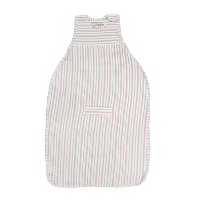 Merino Kids Go Go Sleeping Bag - Duvet Weight - Dusky Pink & Light Grey Stripe-Sleeping Bags- Natural Baby Shower