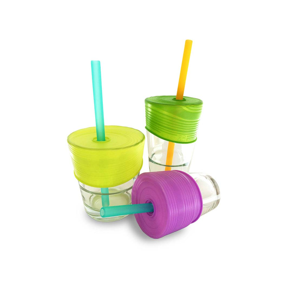 GoSili Silicone Straw Top 3 Pack-Cups & Straws-Default- Natural Baby Shower