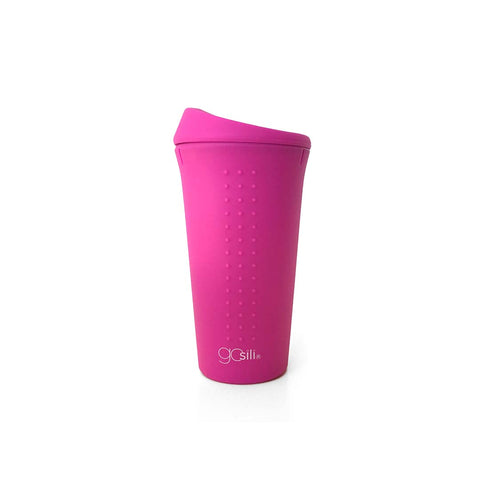 GoSili Silicone To-Go Cup - Hot Pink-Bottles-Default- Natural Baby Shower