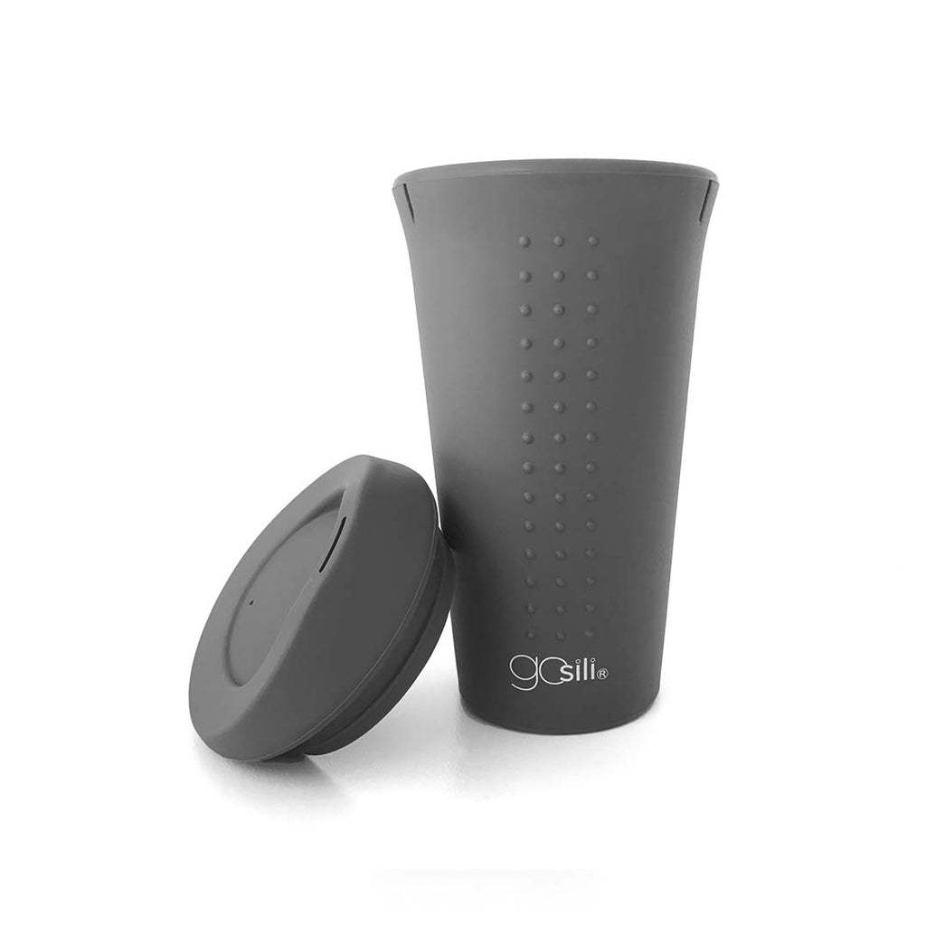 GoSili Silicone To-Go Cup - Soft Black-Bottles-Default- Natural Baby Shower