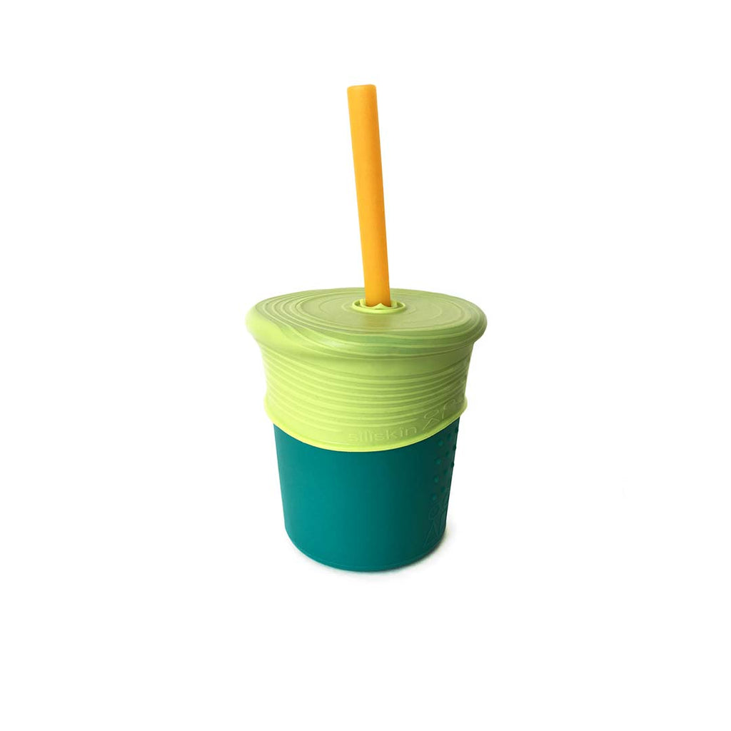 GoSili Siliskin Straw Cup - Storm-Cups & Straws-Default- Natural Baby Shower