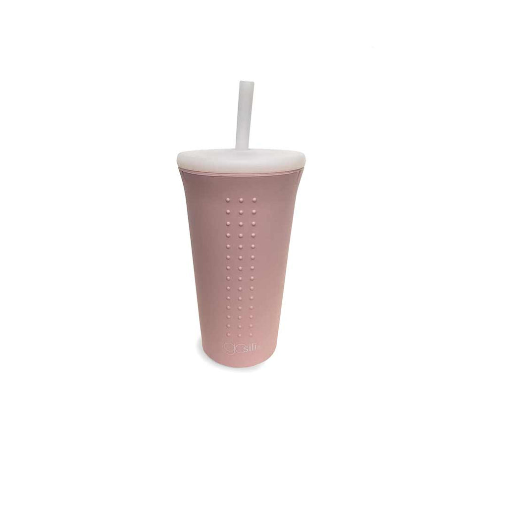 GoSili Straw Cup 16oz - Millenial Pink-Cups & Straws-Default- Natural Baby Shower