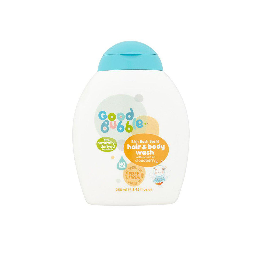 Good Bubble Bish Bash Bosh! Hair & Body Wash with Cloudberry Extract - 250ml-Baby Skincare- Natural Baby Shower