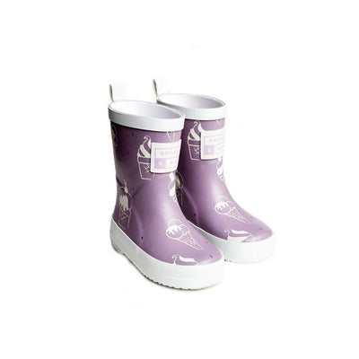 Grass & Air Ice Cream Wellies - Violet-Wellies- Natural Baby Shower