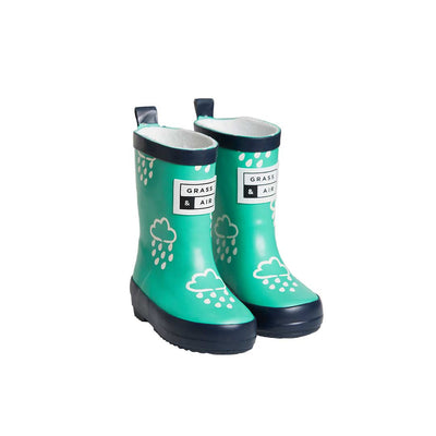 Grass & Air Colour-Revealing Wellies - Green-Wellies- Natural Baby Shower