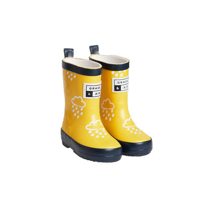 Grass & Air Colour-Revealing Wellies - Yellow-Wellies- Natural Baby Shower