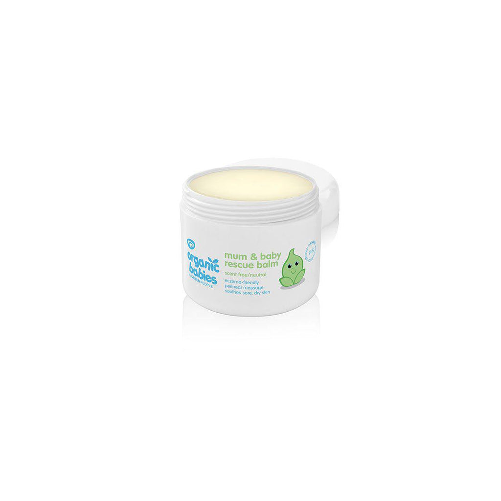 Green People Organic Babies Mum & Baby Rescue Balm - Scent Free - 100ml-Balm & Salves- Natural Baby Shower