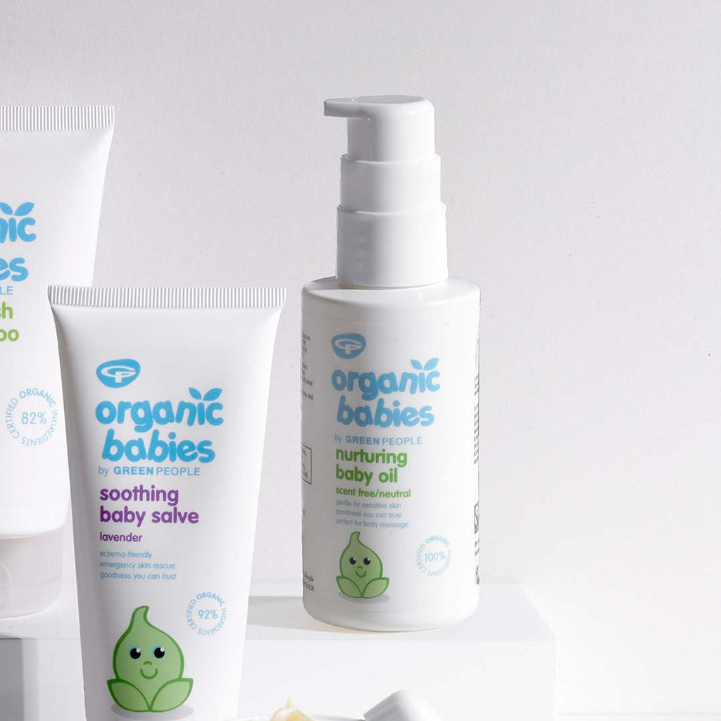 Green People Organic Babies Nurturing Baby Oil - Scent Free - 100ml-Oils- Natural Baby Shower