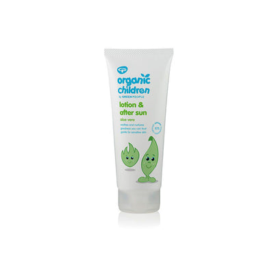 Green People Organic Children Aloe Vera Lotion & After Sun - 200ml-Lotions & Creams- Natural Baby Shower