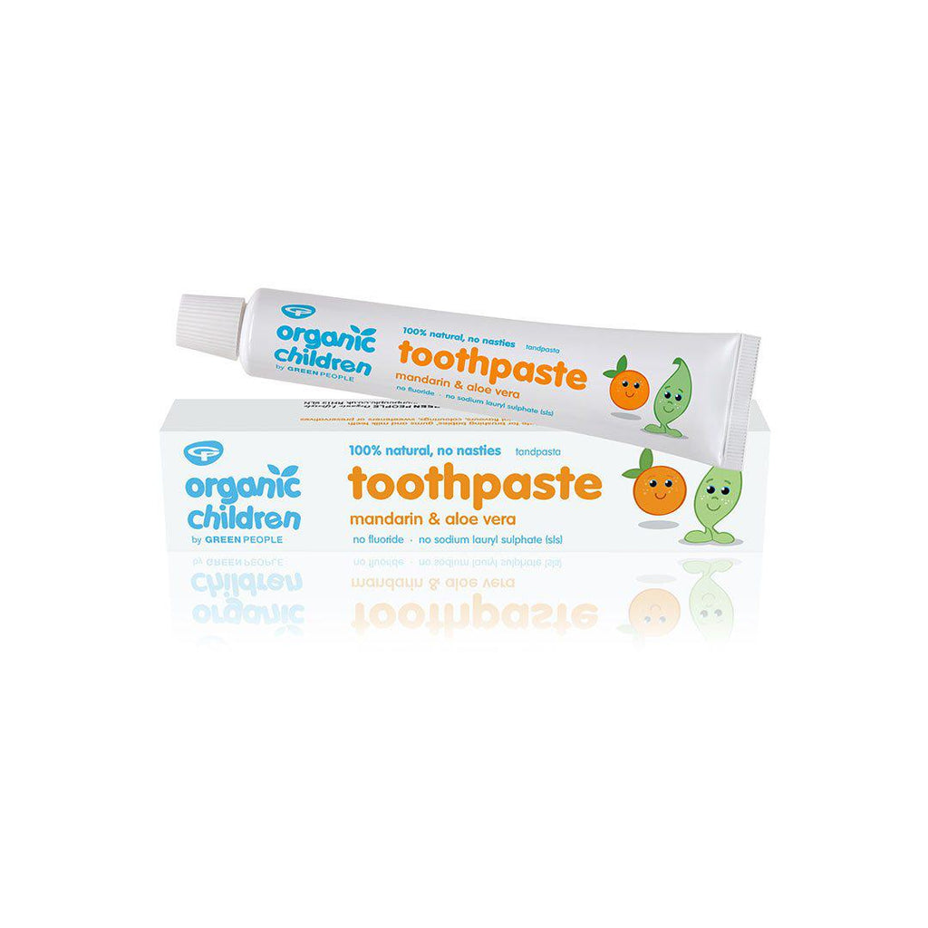 Green People Organic Children Toothpaste - Mandarin - 50ml-Baby Skincare- Natural Baby Shower