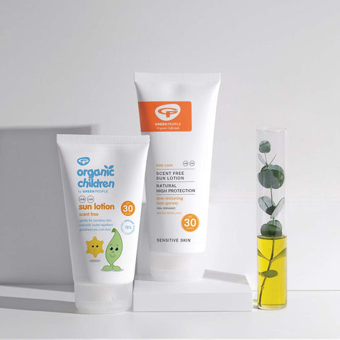 Green People Organic Children Sun Lotion SPF30 - Scent Free - 150ml-Lotions & Creams- Natural Baby Shower