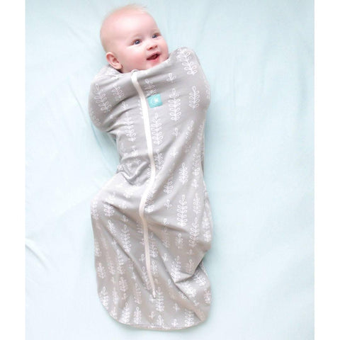 ergoPouch ErgoCocoon - 1 TOG - Grey Fern-Swaddling Wraps- Natural Baby Shower