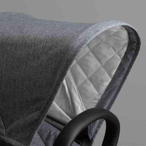 Bugaboo Donkey2 Classic+ Duo Pushchair - Black + Grey Melange-Strollers- Natural Baby Shower