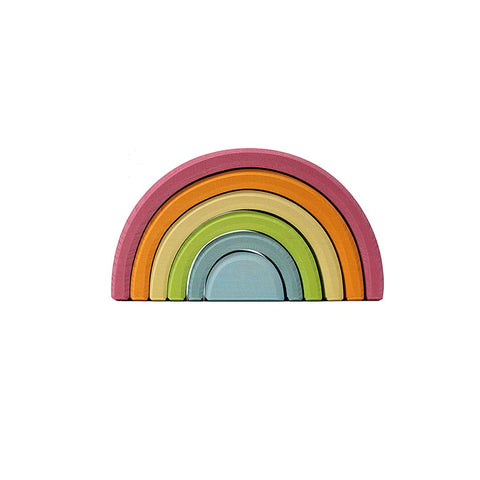 Grimms Pastel Rainbow-Sorting & Stacking Toys- Natural Baby Shower