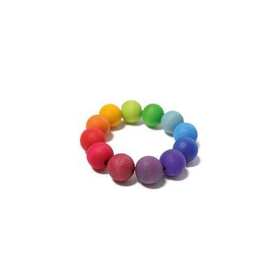 Grimms Rainbow Bead Ring-Teethers- Natural Baby Shower